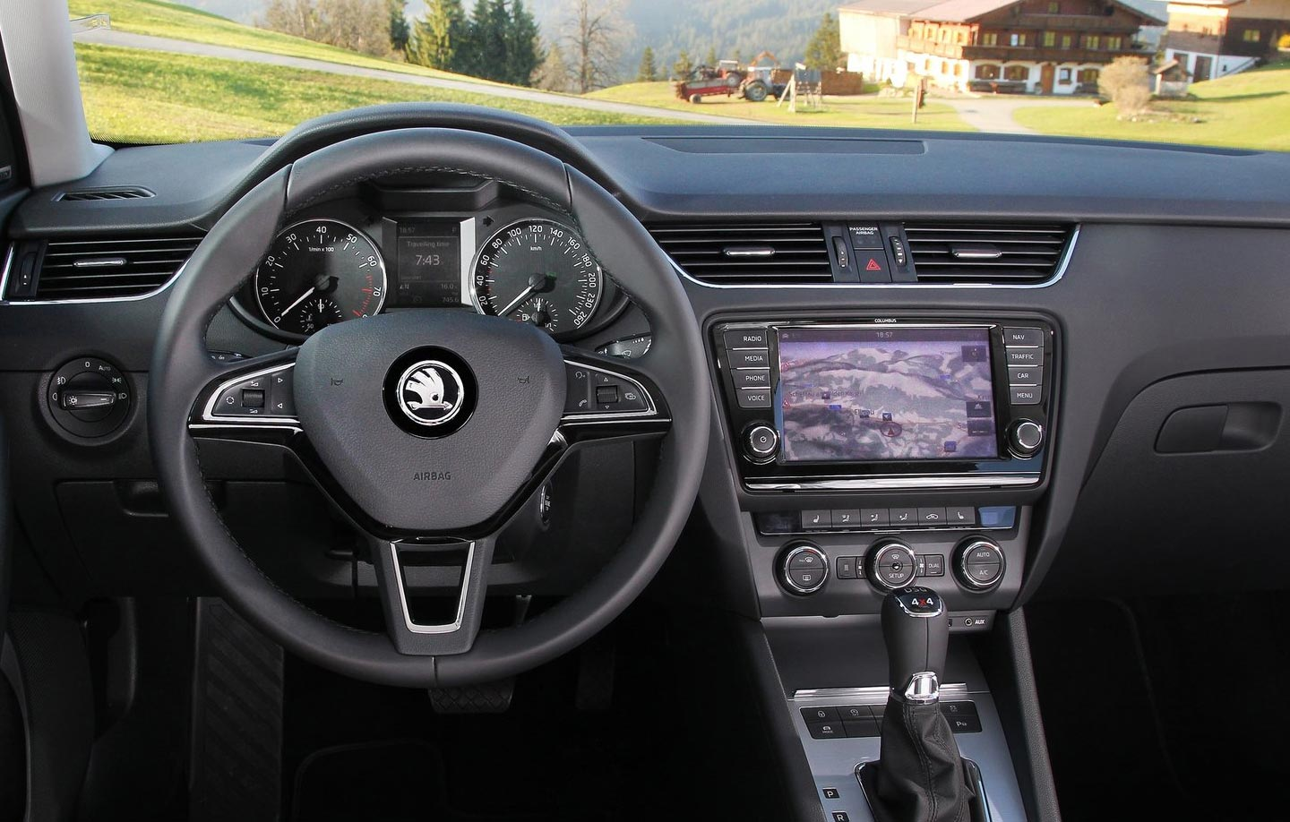 skoda octavia interior 2, bestcar corfu car rental